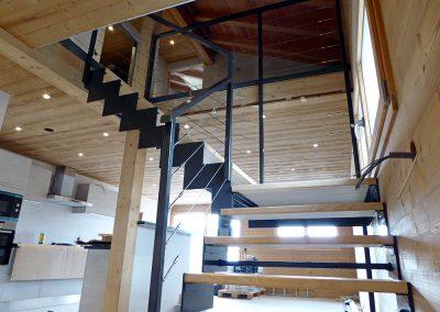 Escalier à crémaillère à Villard