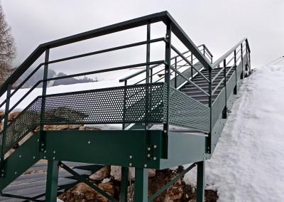 Garde corps avec tôle ajourée - Station ski Habère-Poche
