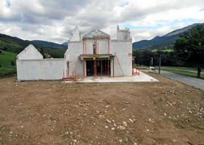 Terrassement de villa à Burdignin